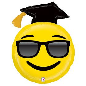 "Emoji Grad 37"" Balloon (Each)"