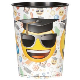 Emoji Graduation 16oz Plastic Favor Cup (Each)