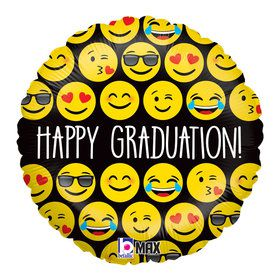 "Emoji Graduation 18"" Balloon (Each)"