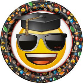 "Emoji Graduation 9"" Luncheon Plates (8 Count)"
