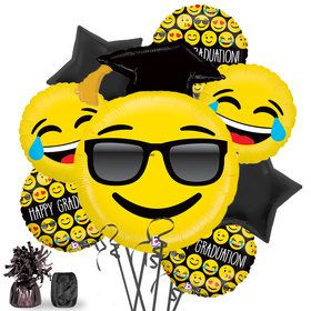 Emoji Graduation Deluxe Balloon Bouquet Kit