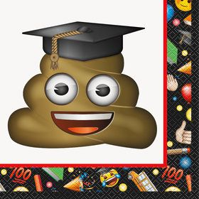 Emoji Graduation Luncheon Napkins (16 Count)
