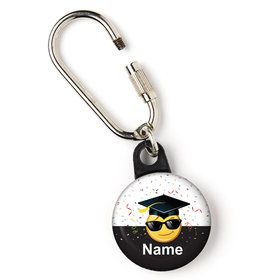 "Emoji Graduation Personalized 1"" Carabiner (Each)"