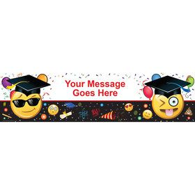 Emoji Graduation Personalized Banner (Each)
