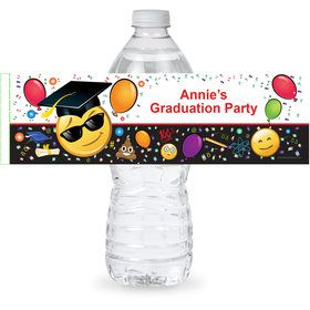 Emoji Graduation Personalized Bottle Label (Sheet of 4)
