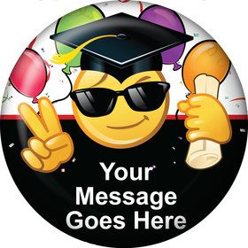 Emoji Graduation Personalized Button (Each)