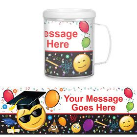 Emoji Graduation Personalized Favor Mug (Each)