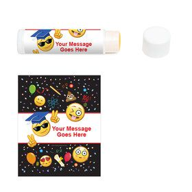 Emoji Graduation Personalized Lip Balm (12 Pack)