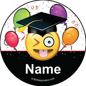 Emoji Graduation Personalized Mini Stickers (Sheet of 24)