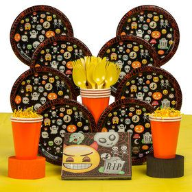 Emoji Halloween Deluxe Tableware Kit (Serves 8)