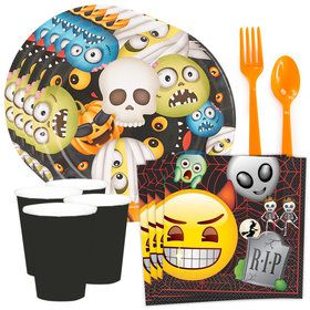 Emoji Halloween Standard Tableware Kit (Serves 8)