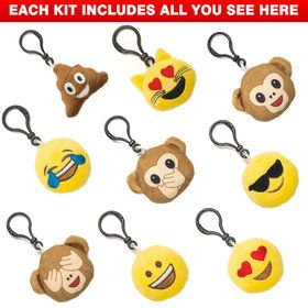 Emoji Keychain Assortment (9 Count)