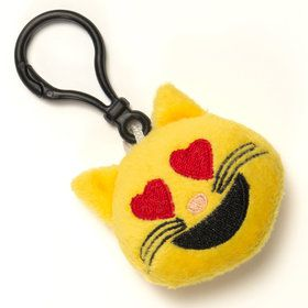 Emoji Keychain Cat Heart Eyes