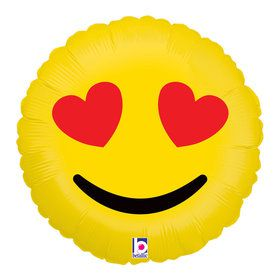 "Emoji Love 18"" Balloon"