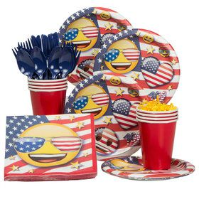 Emoji Patriotic Standard Tableware Kit (Serves 8)