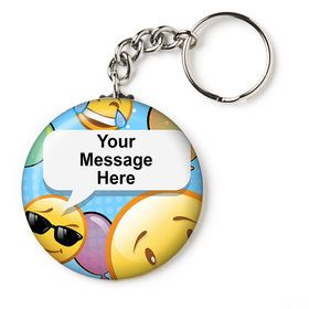 "Emoji Personalized 2.25"" Key Chain (Each)"