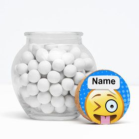 "Emoji Personalized 3"" Glass Sphere Jars (Set of 12)"