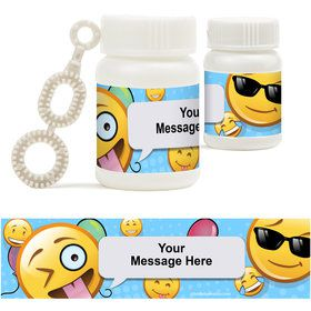 Emoji Personalized Bubbles (18 Pack)