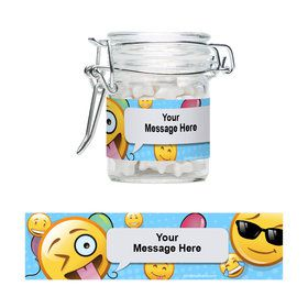 Emoji Personalized Glass Apothecary Jars (10 Count)