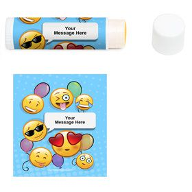 Emoji Personalized Lip Balm (12 Pack)