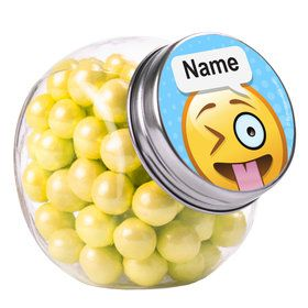 Emoji Personalized Plain Glass Jars (12 Count)