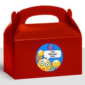 Emoji Personalized Treat Favor Boxes (12 Count)