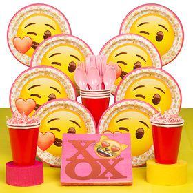 Emoji Pink Deluxe Tableware Kit (Serves 8)