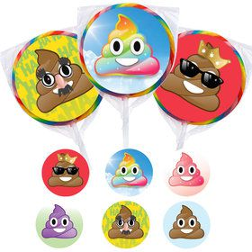 Emoji Poop Assortment Lollipop Kit (12 Pack)