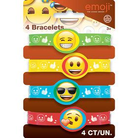 Emoji Stretchy Bracelets (4 Count)