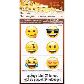 Emoji Tattoos (4 Sheets)