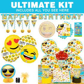 Emoji Ultimate Birthday Party Tableware Kit (Serves 8)