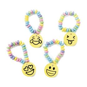 Emoticon Printed Candy Bracelets (12)