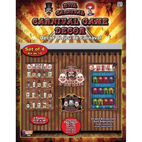 Evil Carnival Game Decor 4 pcs