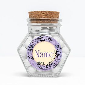 "Evil Heirs Personalized 3"" Glass Hexagon Jars (Set of 12)"