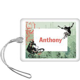 Extreme Sports Personalized Bag Tag (each)