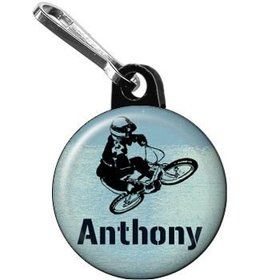 Extreme Sports Personalized Mini Zipper Pull (each)