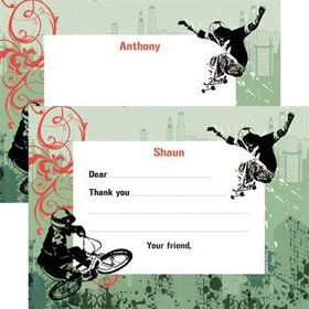 Extreme Sports Personalized Thank You Note (each)