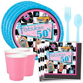 Fabulous 50's Party Standard Tableware Kit (Serves 8)