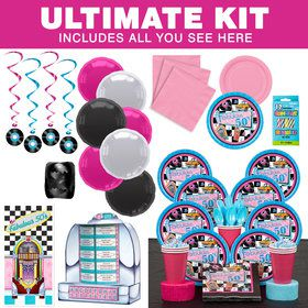 Fabulous 50's Party Ultimate Tableware Kit Serves 8