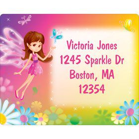 Fairy Birthday Party Personalized Address Labels (Sheet of 15)