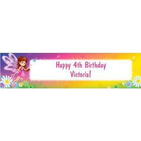 Fairy Birthday Party Personalized Banner (each)