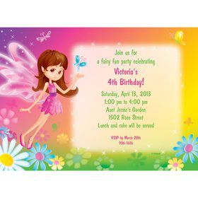 Fairy Birthday Party Personalized Invitation (each)