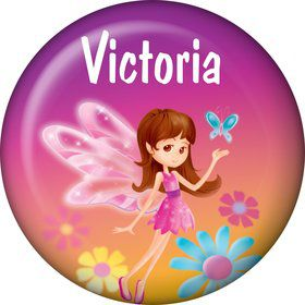 Fairy Birthday Party Personalized Mini Button (each)