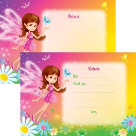 Fairy Birthday Party Personalized Thank You Note (each)
