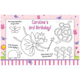 Fairy Party Personalized Activity Mats (8-Pack)