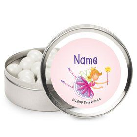Fairy Party Personalized Candy Tins (12 Pack)