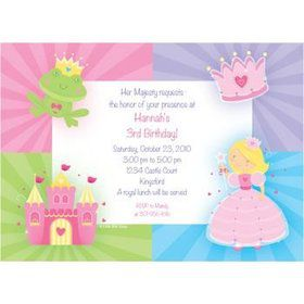 Fairytale Princess Personalized Invitation (each)