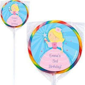Fairytale Princess Personalized Lollipops (pack of 12)