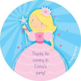 Fairytale Princess Personalized Stickers (sheet of 12)