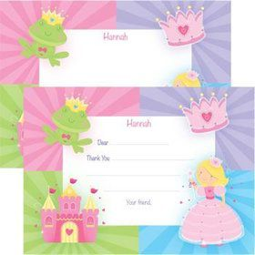 Fairytale Princess Personalized Thank You Note (each)
